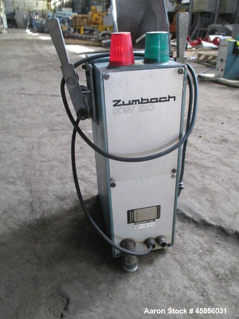 """Used- Zumbach Surface Fault Detector, Model KW20. 2.5"""" Wide aperture with 2"""" wide opening with idler rollers, serial #3072.1..."""