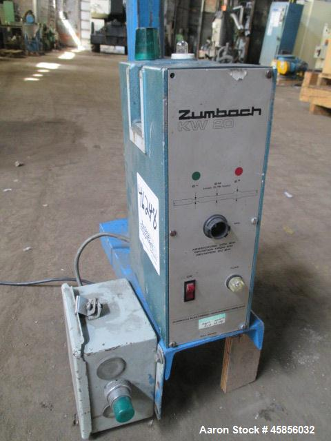 "Used- Zumbach Surface Fault Detector, Model KW20. 2.5"" Wide aperture with 2"" wide opening with idler rollers, serial #7652.0..."