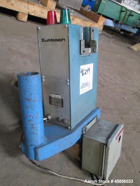"""Used- Zumbach Surface Fault Detector, Model KW20. 2.5"""" Wide aperture with 2"""" wide opening with idler rollers, serial #2506.1..."""
