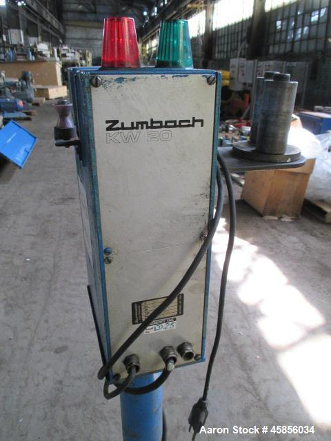 "Used- Zumbach Surface Fault Detector, Model KW20. 2.5"" Wide aperture with 2"" wide opening with idler rollers, serial #2795.1..."