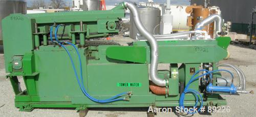 USED: Corma corrugator, model 200. Includes cooling tank with pump, heat exchanger and blowers.