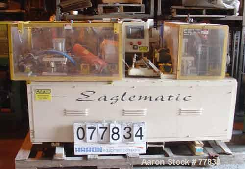 """USED: Eaglematic (pivot) double miter saw. Blades 16"""" diameter, miter range 0-45 deg left and right with stops at 15, 22.5, ..."""