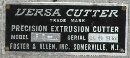 """USED: Versa Cutter, model F-7. 3-1/2"""" wide blade, driven by an approximate 1/2 hp motor. Approximately 250 cuts per minute a..."""