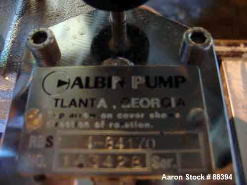 USED: Stainless Steel Albin gear pump, model RBS