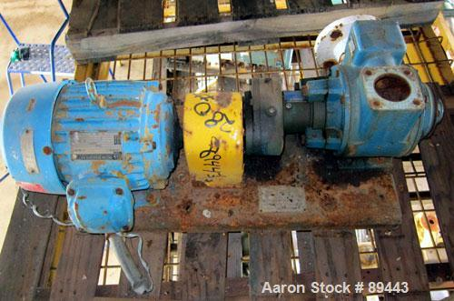 """Used- Blackmer Sliding Vane Pump, Model XL1.5A, Ductile Cast Iron. 2-1/2"""" Inlet/outlet. Rated approximately 35 gallons per m..."""