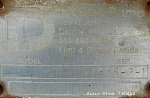 """Used- Blackmer Sliding Vane Pump, Model XL1.5A, Ductile Cast Iron. 3"""" Inlet, 2-1/2"""" outlet. Rated approximately 35 gallons p..."""