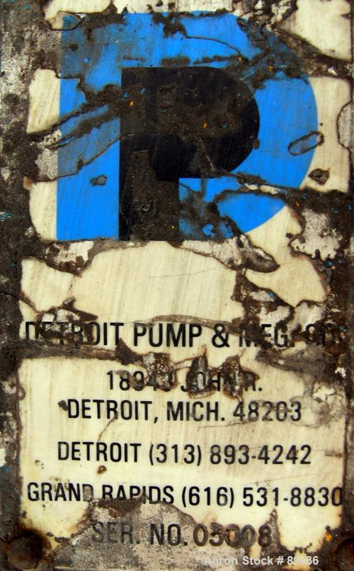 """Used- Blackmer Pump, Ductile Cast Iron. 3"""" NPT inlet, 2-1/2"""" NPT outlet. Rated approximately 35 gallons per minute at 100 ps..."""