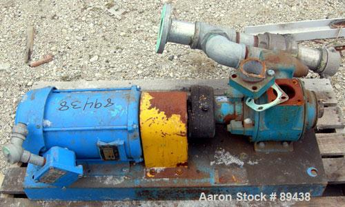"Used- Blackmer Sliding Vane Pump, Ductile Cast Iron. 3"" Inlet, 2-1/2"" NPT outlet. Rated approximately 35 gallons per minute ..."