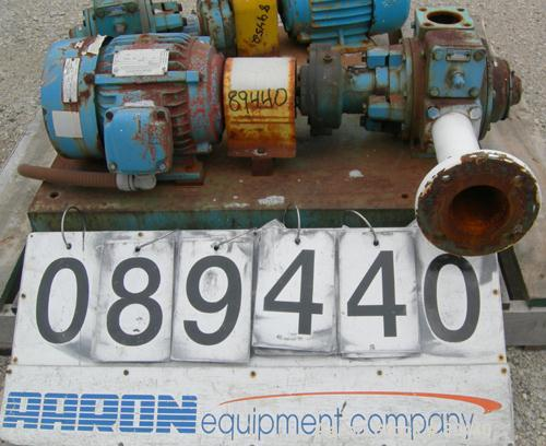 """Used- Blackmer Sliding Vane Pump, Ductile Cast Iron. 2-1/2"""" Inlet/outlet. Rated approximately 35 gallons per minute at 100 P..."""