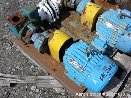 "Used- Blackmer Gear Pump, Model GX2 5B, Carbon Steel. 2.5"" Inlet/outlet, rated up to 155 GPM, on base with 5 hp, 230/460 vol..."