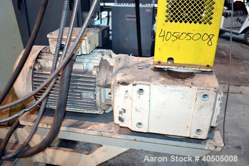 Used- Maag Gear Pump, Model EP 112/70-2000. Driven by a 40hp, 3/60/230/460 volt, 1760 rpm motor thru a reducer, ratio 31.28 ...