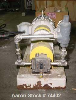 USED: Maag gear pump, model TX/22/13E, stainless steel. Approx .15liter per minute, 50-20,000 SP viscosity. 0 psi suction, 1...