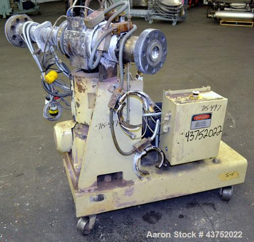 Used- Gear Pump. Driven by a 10 hp, 3/60/460 volt, 1775 rpm motor thru a reducer, ratio 7.5 to 1. Mounted on a base with cas...