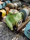Used- Viking rotary pump, model LL4724, 316 stainless steel. Jacketed housing. 110 gallons per minute at 420 rpm, 3