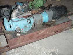 """Used- Viking Pump, Model K724, Stainless Steel. Approximately 35 gallons per minute at 420 RPM, 2"""" diameter inlet/outlet. Di..."""
