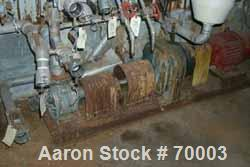 "Used- Viking rotary pump, model LL32, stainless steel. 140 gallons per minute at 520 rpm, 3"" diameter inlet/outlet. Direct d..."