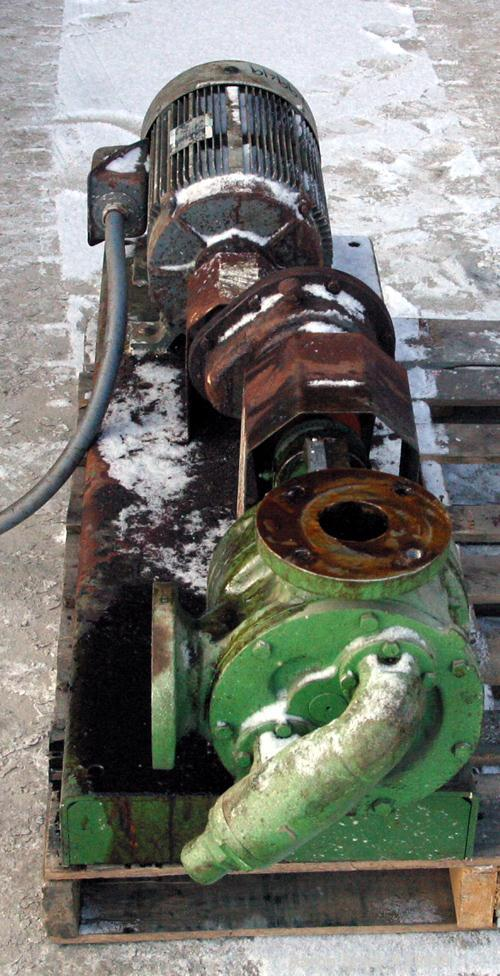 """Used- Viking Rotary Pump, Model LQ4724, 316 Stainless Steel. Approximately 90 gallons per minute at 420 RPM, 2-1/2"""" diameter..."""