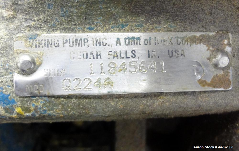 Used- Viking Universal Seal Heavy Duty Jacketed Rotary Gear Positive Displacement Pump, Model Q224A, Carbon Steel. Approxima...