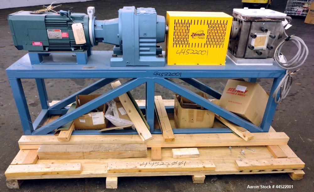 Unused- Zenith PEP-II Polymer Gear Pump, Model 60-20000-2466-4, Carbon Steel. Rated approximate 300cc per revolution, flow r...