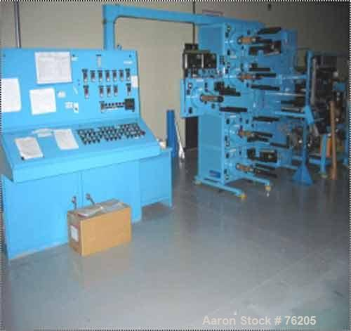 USED: Bernal multi web laminator model 9808, 1000 ft per minute.