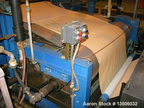 "Used-Black Clawson Knife Over Roll Coater, 66"" wide, model 311. Unit is comprised of a payoff frame, hot oil heated applicat..."