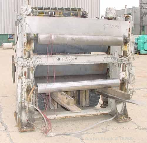 """Used- Laminating Line 54"""" Wide. Equipped with 12"""" diameter x 54"""" wide cored rolls. Stand equipped with 3 rolls with nip roll..."""