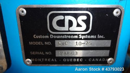"Used- Custom Downstream Systems Vacuum Calibration Table, Model CVC 10-25. 304 Stainless steel tank approximate 14"" wide x 9..."