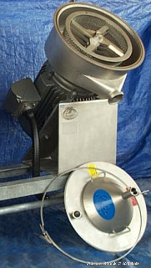 USED: Hosokawa Bepex Rietz disintegrator. Model RP-18-K133, Baldormotor, 460 volt, 3 phase, 60 hz, 110 amp, 100 hp. Motor mo...