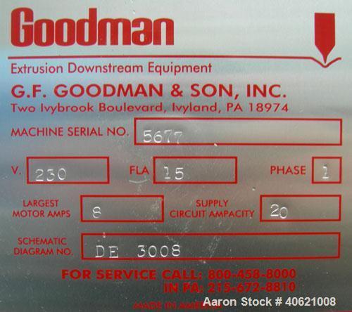 Used- Goodman Traveling Fly Knife Cutter, model Med/1000