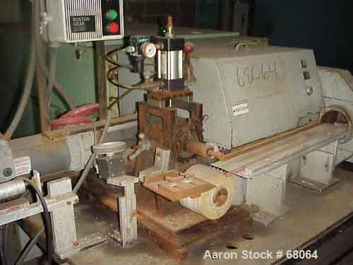 """USED: Versa-Cutter capable of handling up to approximate 4"""" profile. 3/4 hp homemade 2 roll pull rolls, 5"""" diameter x 2-1/2""""..."""