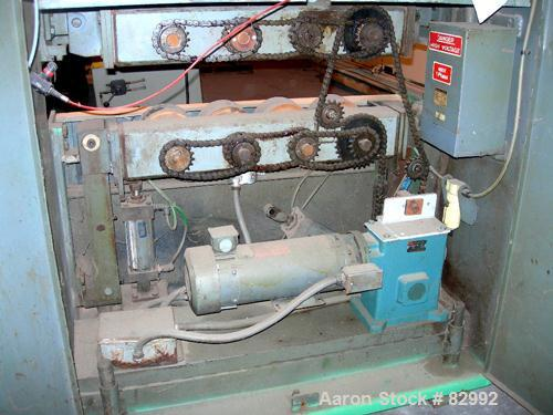 """USED: Puller, wheel type. (8) 4"""" wide x 24"""" contact area, pneumatically adjustable rubber wheels. Approximately 5"""" max dayli..."""