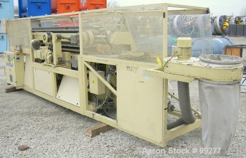 "Used- Actual Puller/Cutter, Model ARZ3000. (2) 9"" wide x 96"" long contact area, pneumatically adjustable cleated rubber belt..."