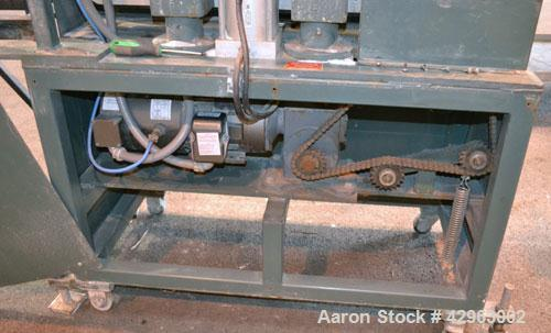Used- Al-Be Industries Puller, Model PV400AC. (2) 3-1/2'' Wide x 32'' long contact  rubber belts. 0'' to 4'' Capacity openin...