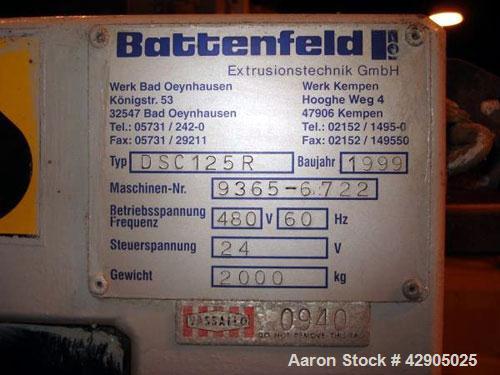 Used- Battenfeld Caterpiller Belt Puller Saw Combination, Model DESC125R