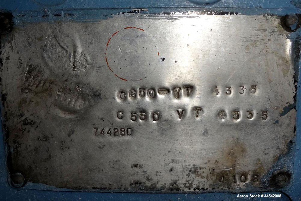 "Used- Boston Matthews Belt Puller, Model C-650-VT. (2) Approximately 4"" wide x 24"" long contact area belts, manually adjusta..."