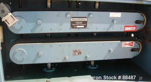 "USED: Boston Matthews belt puller, model CL600-VT. (2) Manually adjustable belts, 4-1/2"" wide x 42"" long contact area. Drive..."