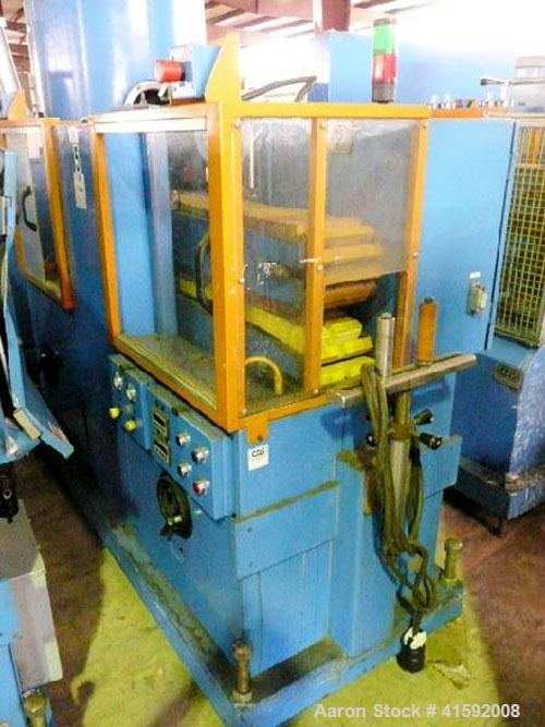 """Used- Custom Downstream Systems Cleated Belt Puller, Model CCH-60-8. (2) 8"""" wide x approximate 60"""" contact area cleated belt..."""
