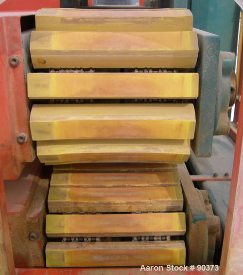 """USED: Custom Downstream Systems cleated belt puller, model CCH-60-8. (2) 7-1/2"""" wide x approximate 60"""" contact area. Manuall..."""
