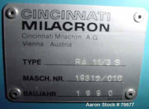 "USED: Cincinnati Milicron profile pipe puller, model RA11/3S. 7"" x 15""openings. (3) 3/8"" wide x 65"" contact length cleated b..."