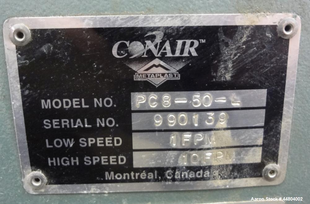 """Used- Conair Cleated Belt Puller, Model PC8-50-L.  7-1/2"""" Wide x 50"""" long contact surfaces.  Rated 1-10 feet per minute. Ind..."""