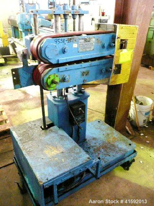 """Used- Farris Belt Puller, Model 550. (2) 4"""" wide x approximate 21"""" contact area belts. Approximately 4"""" per minute to 74 fee..."""