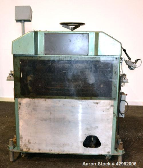 Used- Gatto Cat-A-Puller, Model 207-3PC. (2) 3'' Wide x 28'' long contact cleated rubber belts. Manually adjustable 5'' belt...