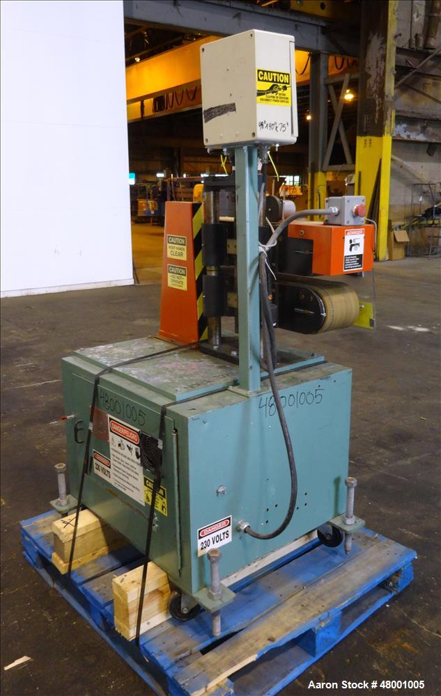 "Used- Goodman Stand-Alone Puller, Model 6E. Approximately 6"" Wide x 24"" Long. Manual adjustable raise. Maximum belt opening ..."