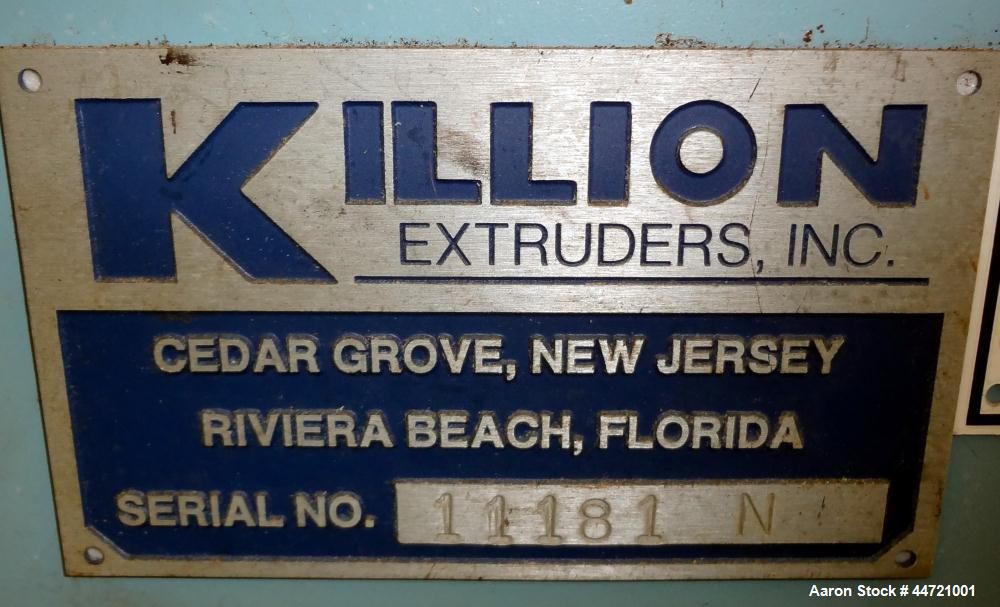 """Used- Killion Puller, Model 2-12, Carbon Steel.  Approximateky 2"""" wide x 12"""" long contact area rubber belts, manually adjust..."""