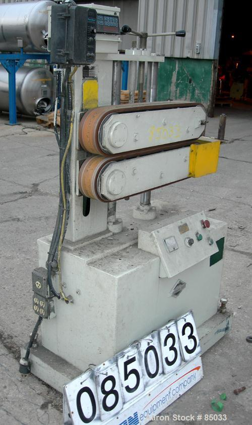 "Used- Metaplast Puller, Model PB4C. (2) 5"" wide x 26"" long contact areas, manually adjustable rubber belts. Driven by a 2 HP..."