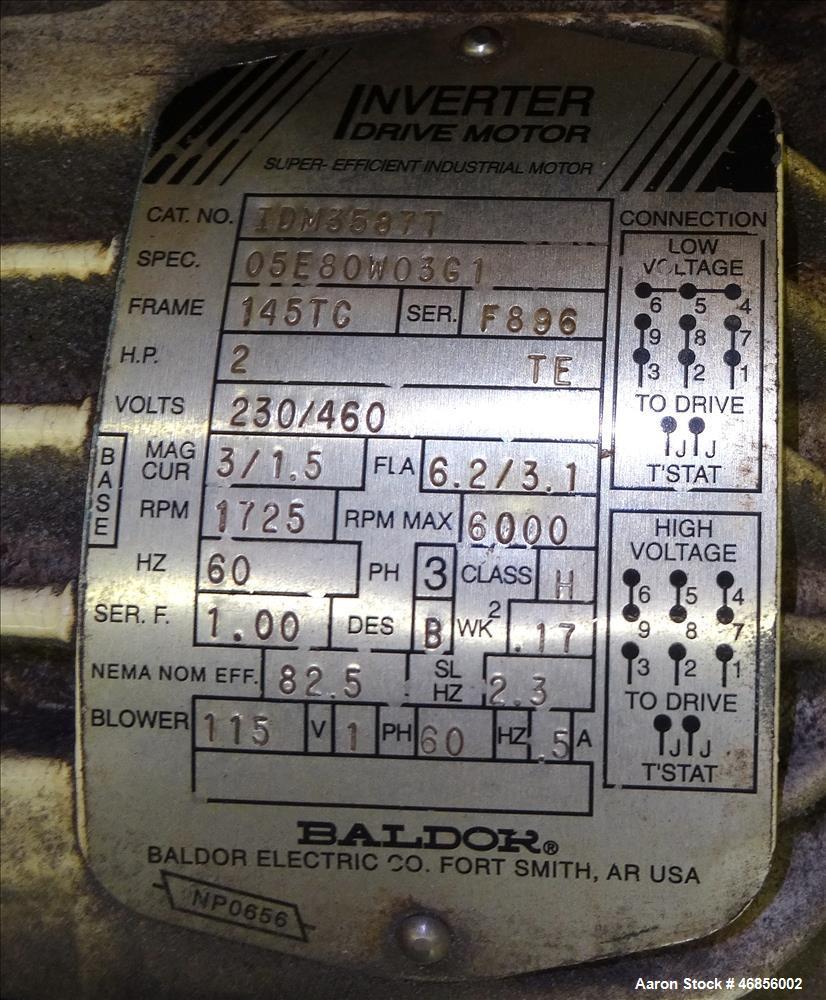Used- Conair Metaplast Cleated Belt Puller, Model PC8-60