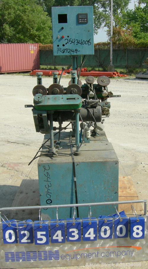 "Used-  Puller, ""V"" Shaped.  (2) 1 3/4"" wide x 12"" long belts.  Manually adjustable height.  Driven by a  3/4 hp, 90 volt, 25..."