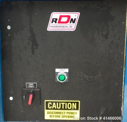 """Used- RDN Belt Puller, Model 180-18-S. (2) 17-1/2"""" wide x 60"""" long contact length rubber belts, manually adjustable. Driven ..."""