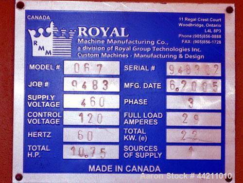 Used- Royal Machine Belt Puller, Model 067