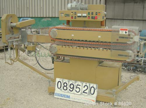 "USED: Royal Machine cleated belt puller/cutter, model 055. (2) 7-1/2"" wide x 58"" long contact area belts, driven by an appro..."